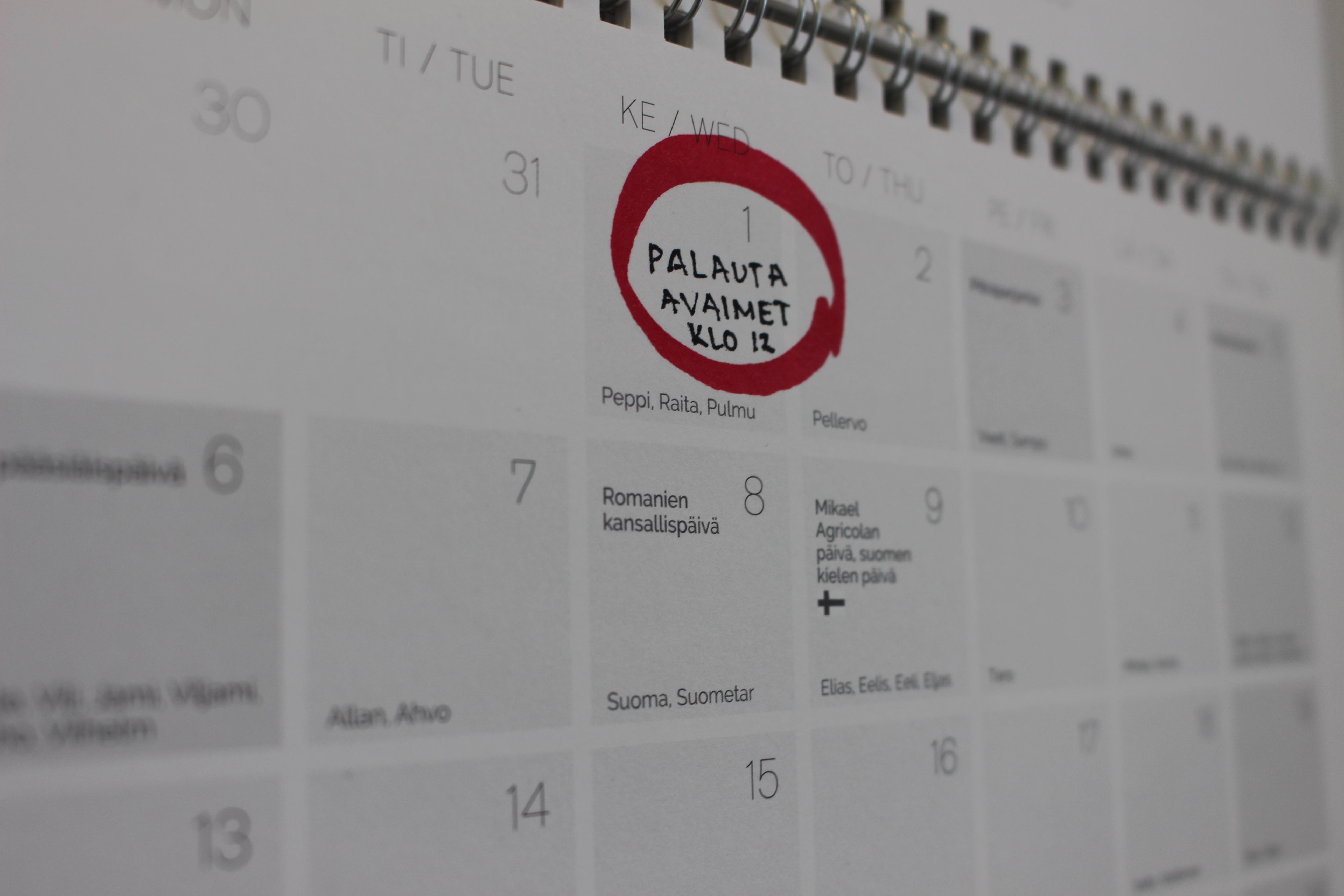 poismuutto kalenteri